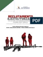 Reclutamiento ilícito/forzado en los conflictos armados de Afganistán, Colombia, Siria y Somalia