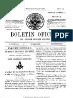 Boletín Oficial Del Gran Oriente Español. 30-5-1908 (1)