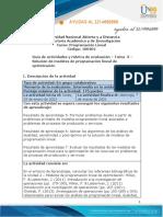 Guía de Actividades y Rúbrica de Evaluación - Unidad 2 - Tarea 3 - Solución de Modelos de Programación Lineal de Optimización