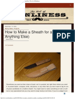 How to Make a Leather Sheath (for a Knife or Anything Else)