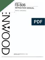 Kenwood TS-50S HF Transceiver - Instruction Manual