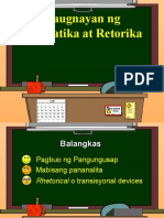 Gramatika at Retorika