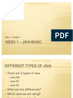 Week 1 Day 1 – Java Basic