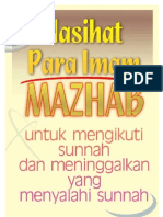 nasihat imam 4 mazhab tuk mgikuti sunnah