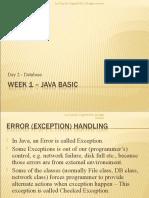 Week 1 Day 2 – Java Basic
