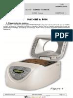 Devoir de Contrôle N°2 - Génie mécanique - Machine à pain - 3ème Technique (2016-2017) Mr JEMAI Lotfi