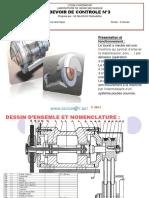 Devoir Corrigé de Contrôle N°3 - Génie mécanique touret a meuler - 3ème Technique (2012-2013) Mr mlaouhi slaheddine