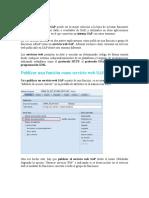 Publicar servicios en SAP BI