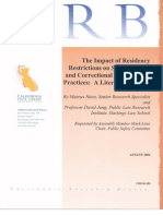 2006 - Impact of Residency Restrictions in CA