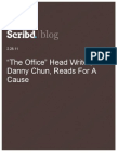 """""""The Office"""" Head Writer, Danny Chun, Reads for a Cause, Scribd Blog, 2.28.11"""