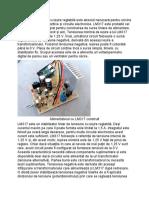O Sursă de Tensiune Cu Ieșire Reglabilă Este Absolut Necesară Pentru Oricine Are de a Face Cu Dispozitive Și Circuite Electronice