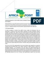 Capacity Development in a Post-Conflict Context