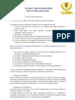 MANUAL PARA TOMA DE MEDICIONES - Fitness 1010