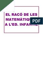 LES MATEMÀTIQUES A L'ED. INFANTIL