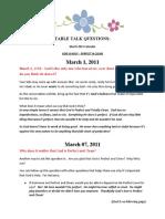 DG4Kids Table Talk Questions (March '11)
