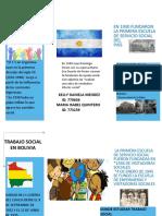 folleto Trabajo Social en argentina y bolivia
