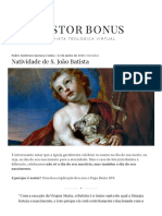 Natividade de S. João Batista – Pastor Bonus