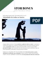 Solenidade de Todos Os Santos – Pastor Bonus