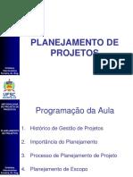 Aula 3.1  Planejamento de Projetos v1