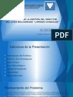 EVALUACIÓN DE LA GESTIÓN DEL DIRECTOR DEL LICEO