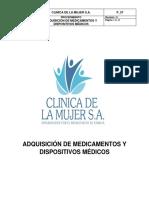 P_57 Adquisición de medicamentos y dispositivos médicos. Rev 00