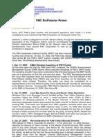 Sample Media Primer for Press Briefing