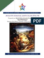 BOLETÍN No 40 Yom Shishi 11, Kislev, 5781