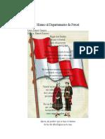 Himno al Departamento de Potosí