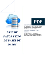 Base de datos y tipos de bases de datos.