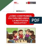 ¿CÓMO CONSTRUIMOS CULTURA INCLUSIVA EN LA INSTITUCIÓN EDUCATIVA?