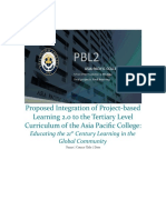 Proposed PBL 2.0 Curriculum