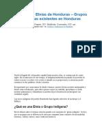 Conoce Las Etnias de Honduras