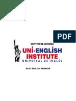 Work material Uni-English