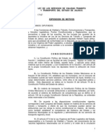 Ley de transito de Jalisco
