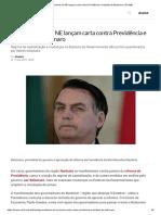 Governadores do NE lançam carta contra Previdência e medidas de Bolsonaro _ EXAME
