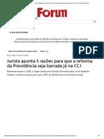 Jurista Aponta 5 Razões Para Que a Reforma Da Previdência Seja Barrada Já Na CCJ _ Revista Fórum