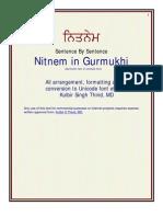 Nitnem in Gurmukhi (Uni)