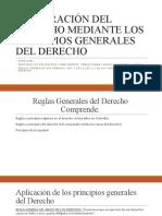 INTEGRACIÓN DEL DERECHO MEDIANTE LOS PRINCIPIOS GENERALES
