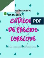 CATALOGO AGOSTO11 - LORELOVE