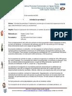 Informe Actividad de aprendizaje 3 Implementar acciones para el manejo de la especie piscícola de agua cálida teniendo en cuenta sus características