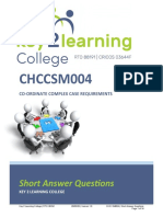 Short Answer Questions CHCCSM004