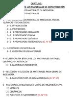 Capítulo 1 - Propiedades de Los Materiales de Construcción