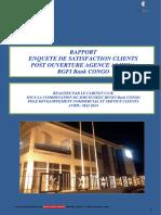 RAPPORT ETUDE DE SATISFACTION AGENCE BANCAIRE