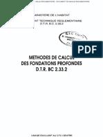 Bc 2.33.2 Methodes de Calcul Des Fondations Profondes