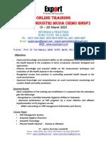 ONLINE TRAINING Industrial Hygiene Muda - HIMU 15 - 20 Maret 2021, ( Sertifikasi BNSP)(1)