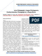 48 Questões Concurso Pedagogia Língua Portuguesa, Conhecimentos