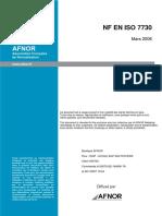 NF EN ISO 7730