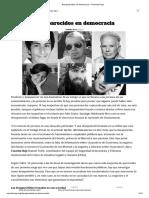 Desaparecidos en democracia – Cosecha Roja