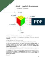 Montagem Cubo mágico 3x3x3