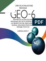 -Resumen de Las Evaluaciones Regionales Del Sexto Informe Sobre Las Perspectivaas Del Medio Ambiente Mundial GEO-6 Res